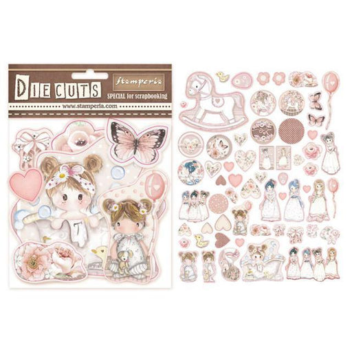 STAMPERIA   DIE CUTS ASSORTED LITTLE GIRL