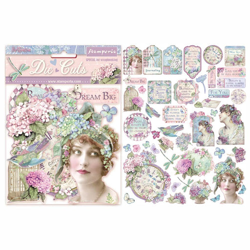STAMPERIA   DIE CUTS ASSORTED HORTENSIA