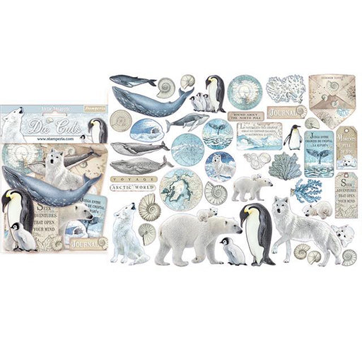 STAMPERIA   DIE CUTS ASSORTED  ARCTIC ANTARCTIC