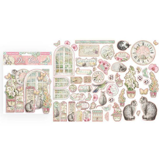 STAMPERIA   DIE CUTS ORCHIDS AND CATS