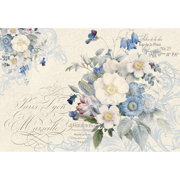 STAMPERIA A3 RICE PAPER NEW ENGLAND BOUQUET