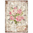 STAMPERIA A4 RICE PAPER SWEET TIME CLOCK BOUQUET