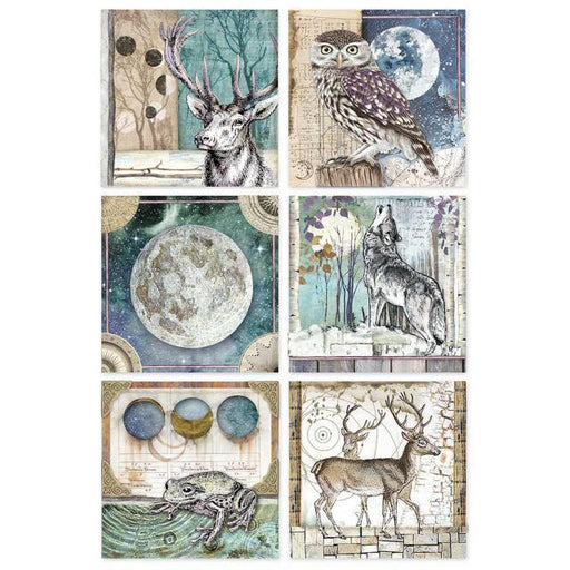 STAMPERIA A4 RICE PAPER  COSMOS CARDS