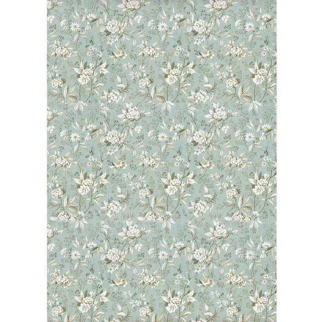 STAMPERIA A4 RICE PAPER  JASMINE ON LIGHT BLUE