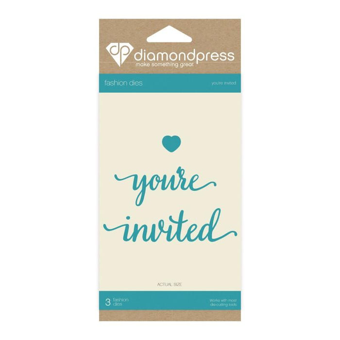 DIAMOND PRESS  DIES WORD YOUR INVITED
