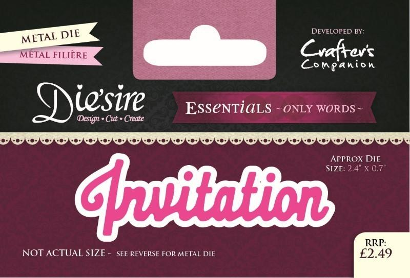 DIESIRE ESSENTIALS ON WORDS DIE INVITATION