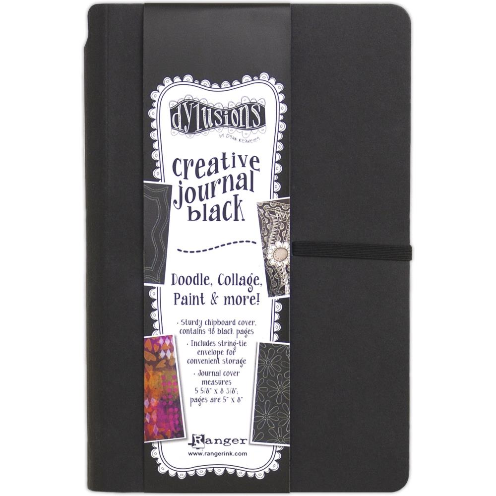 DYLUSIONS CREATIVE JOURNAL 5 X 8 BLACK