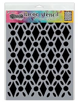 DYLUSIONS  STENCIL LARGE FANCY FLOOR