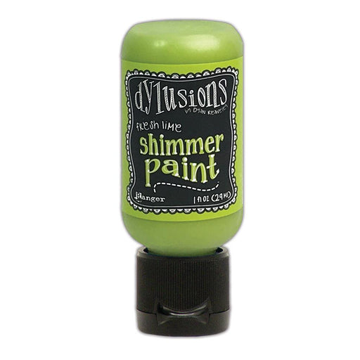 DYLUSIONS  MEDIA  PAINT 29ML SHIMMER PAINT FRESH LIME