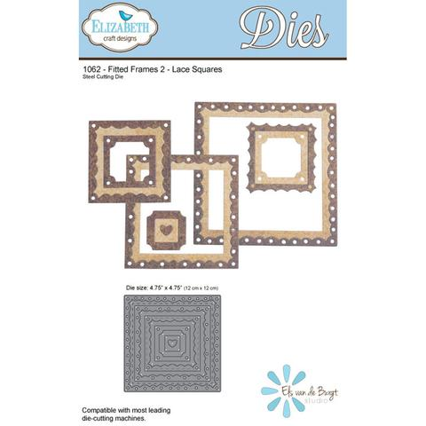 ELIZABETH CRAFT DESIGN DIES FITTED FRAMES 2 LACE SQUARES