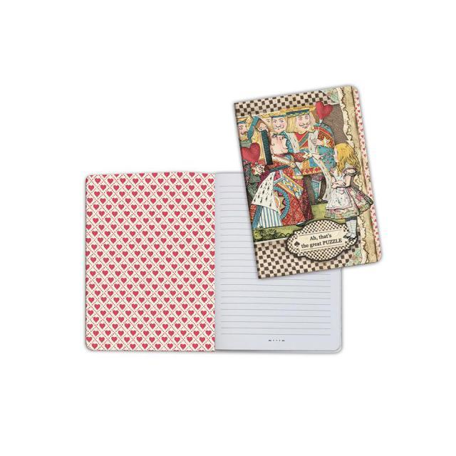 STAMPERIA A5   NOTEBOOK MAD HATTER