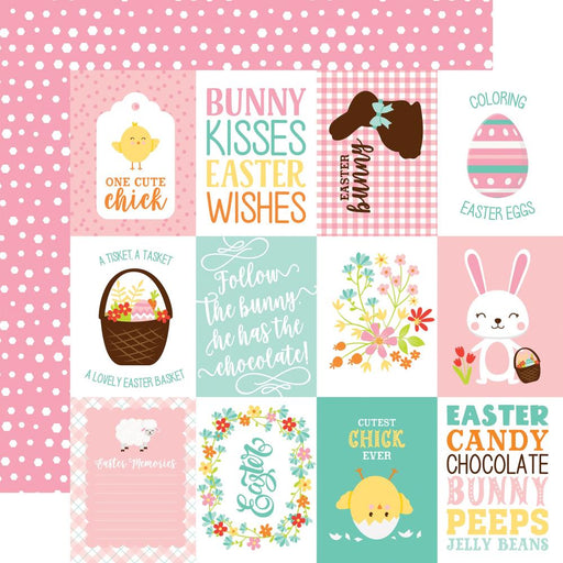 ECHO PARK 12 X 12  PAPER HAPPY EASTER 3X4 JOURNALING CARDS