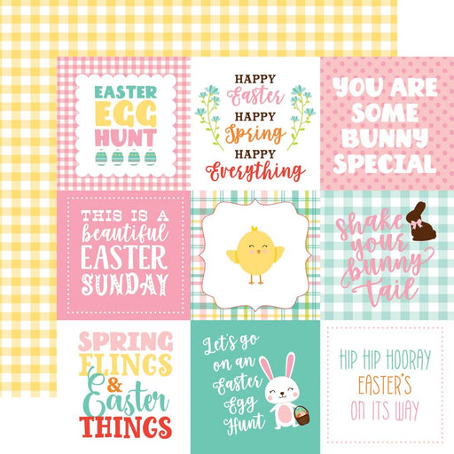ECHO PARK 12 X 12  PAPER HAPPY EASTER 4X4 JOURNALING CARDS