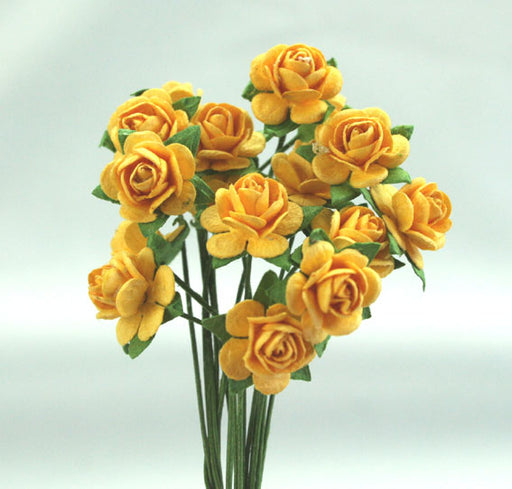 GREEN TARA ROSES 1CM YELLOW