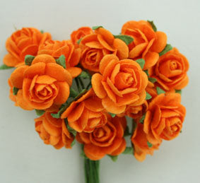 GREEN TARA ROSES 1.5CM ORANGE