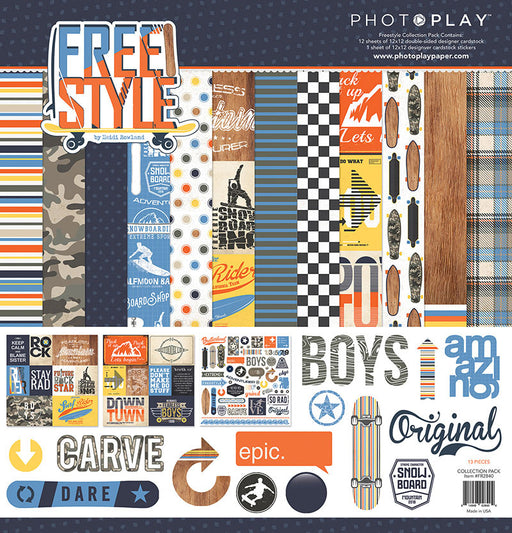 PHOTOPLAY  12 X12 PAPER PACK  FREE STYLE