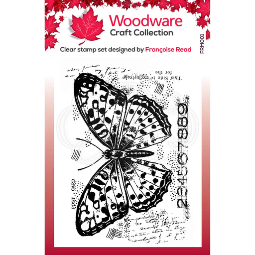 WOODWARE  CLEAR STAMPS SINGLE BUTTERFLY