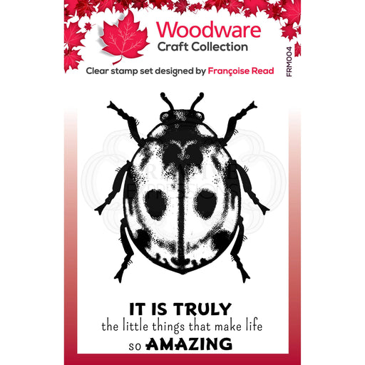 WOODWARE  CLEAR STAMPS LITTLE LADY BIRD