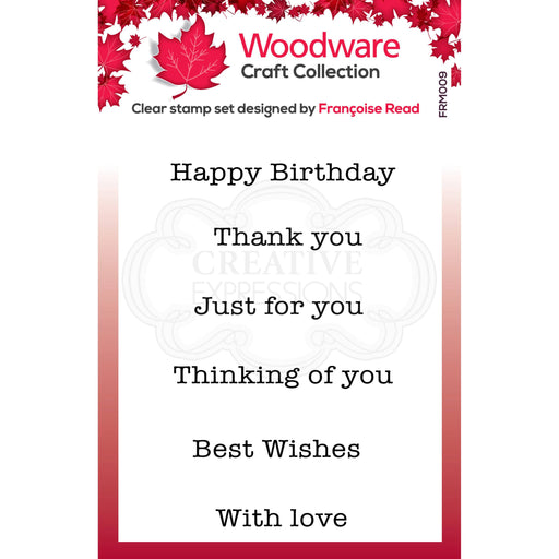 WOODWARE  CLEAR STAMPS MINI GREETING