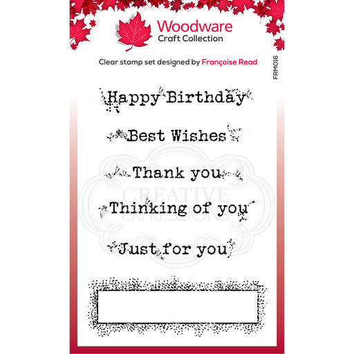 WOODWARE  CLEAR STAMPS BOXED GREETINGS