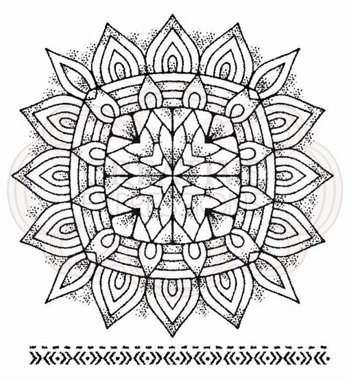 WOODWARE  CLEAR STAMPS MANDALA TWO