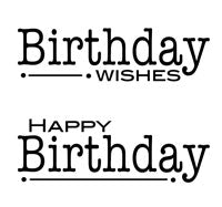 WOODWARE COLLNS CLEAR STAMPS BIRTHDAY WORDS