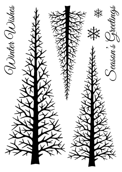 WOODWARE  CLEAR STAMPS  FOREST