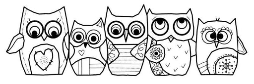 WOODWARE  CLEAR STAMPS OWLS