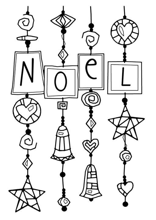 WOODWARE  CLEAR STAMPS NOEL DANGLES