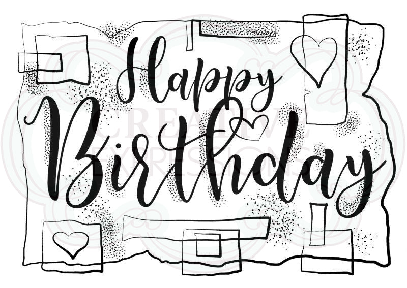 WOODWARE  CLEAR STAMPS  BIRTHDAY STRIPS
