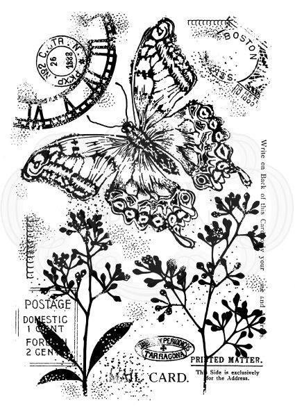 WOODWARE  CLEAR STAMPS  VINTAGE SWALLOWTAIL