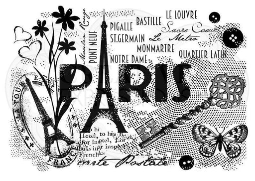 WOODWARE  CLEAR STAMPS  PARIS POSTCARD