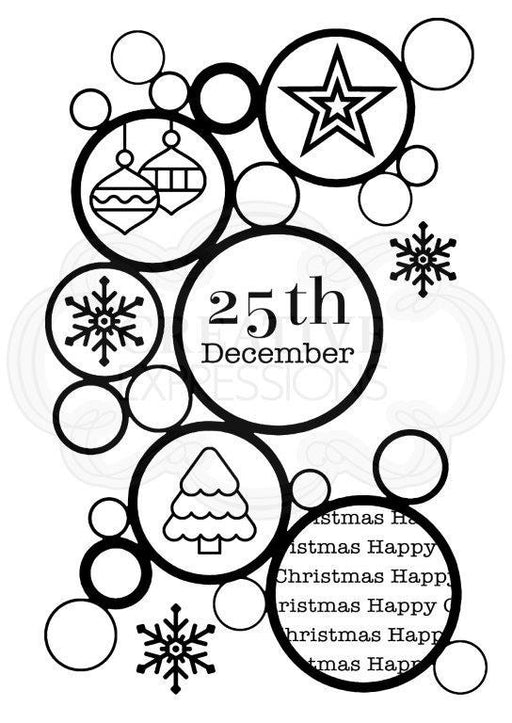 WOODWARE  CLEAR STAMPS   CHRISTMAS BUBBLES