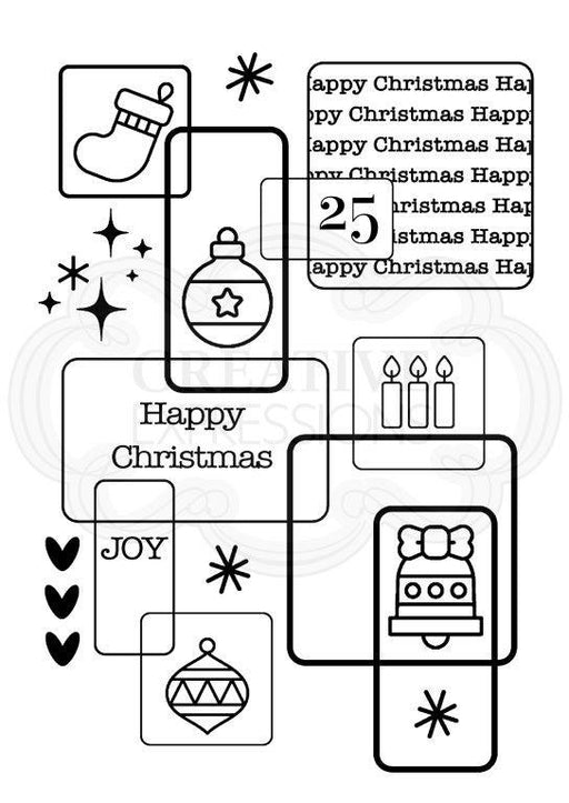 WOODWARE  CLEAR STAMPS    CHRISTMAS SQUARES