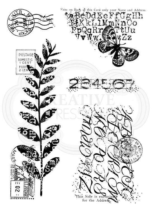 WOODWARE  CLEAR STAMPS POSTAL MIX