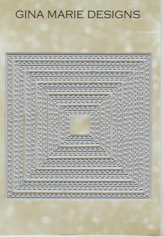GINA MARIE DESIGNS DIES DOUBLE STITCHED SQUARE