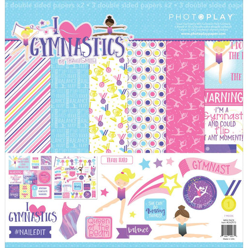 PHOTOPLAY  12 X12 PAPER PACK I LOVE GYMNASTICS