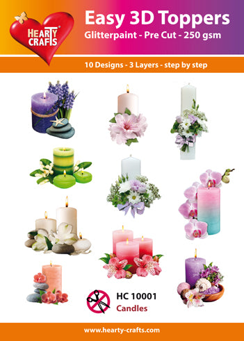 HEARTY CRAFTS EASY 3D TOPPERS CANDLES