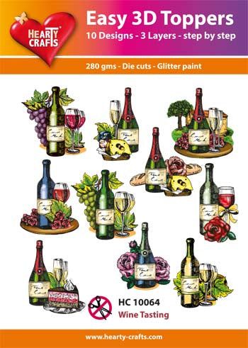 HEARTY CRAFTS EASY 3D TOPPERS WINE TASTING