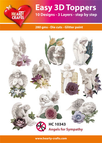 HEARTY CRAFTS EASY 3D TOPPERS ANGELS FOR SYMPATHY