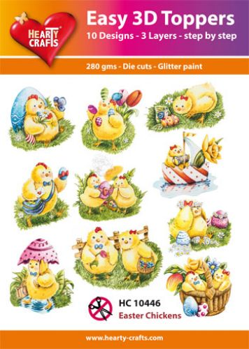 HEARTY CRAFTS EASY 3D TOPPERS EASTER CHICKENS
