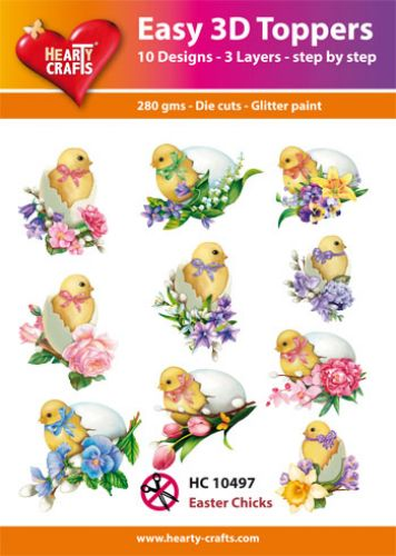 HEARTY CRAFTS EASY 3D TOPPERS EASTER CHICKS