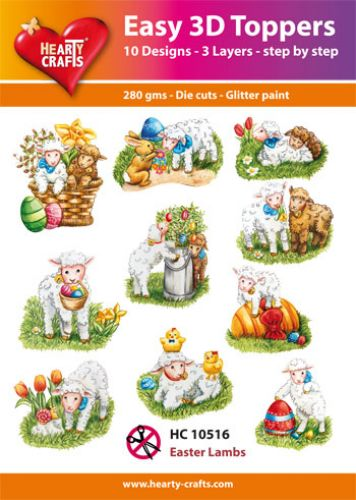HEARTY CRAFTS EASY 3D TOPPERS EASTER LAMBS