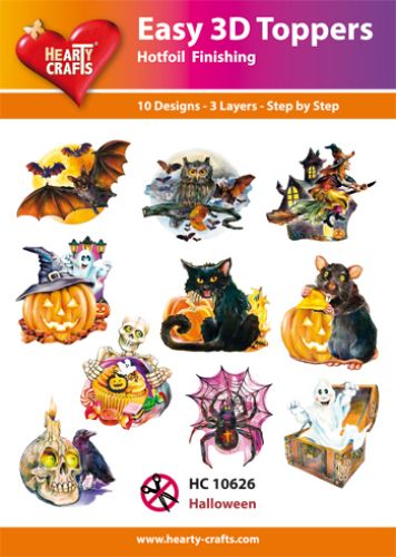HEARTY CRAFTS EASY 3D TOPPERS  HALLOWEEN