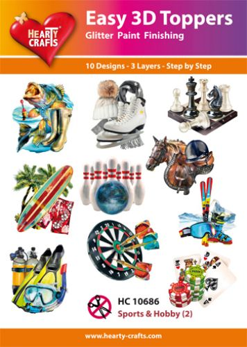 HEARTY CRAFTS EASY 3D TOPPERS  SPORTS AND HOBBY 2