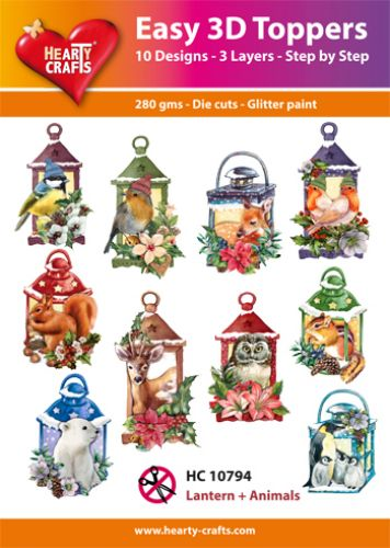 HEARTY CRAFTS EASY 3D TOPPERS LANTERN AND ANIMALS