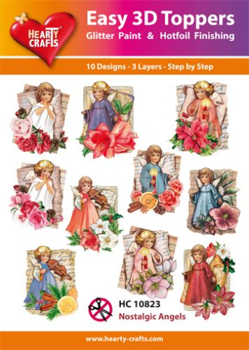HEARTY CRAFTS EASY 3D TOPPERS  NOSTALGIC ANGELS