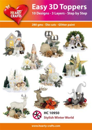 THEARTY CRAFTS EASY 3D TOPPERS  STYLISH WINTER WORLD