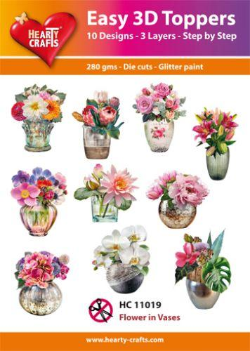 THEARTY CRAFTS EASY 3D TOPPERS FLOWERS IN VASES