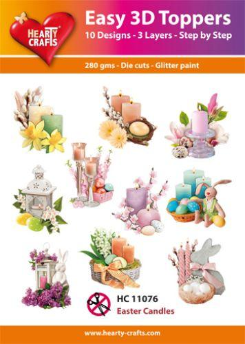 HEARTY CRAFTS EASY 3D TOPPERS  EASTER CANDLES
